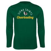 Performance Dark Green Longsleeve Shirt-Cheerleading Script Design
