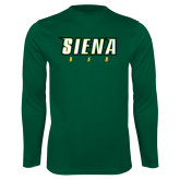 Syntrel Performance Dark Green Longsleeve Shirt-Dad