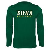 Performance Dark Green Longsleeve Shirt-Volleyball