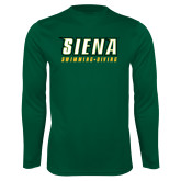 Performance Dark Green Longsleeve Shirt-Swimming-Diving