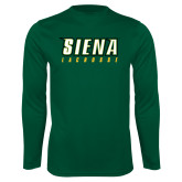 Performance Dark Green Longsleeve Shirt-Lacrosse