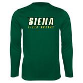Performance Dark Green Longsleeve Shirt-Field Hockey