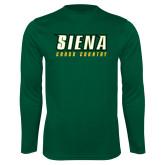 Performance Dark Green Longsleeve Shirt-Cross Country