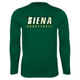 Performance Dark Green Longsleeve Shirt-Basketball