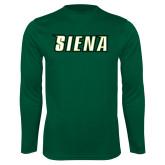 Performance Dark Green Longsleeve Shirt-Siena
