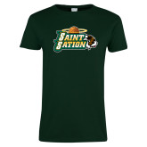Ladies Dark Green T Shirt-Saint Sation