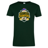 Ladies Dark Green T Shirt-2016 MAAC Mens Golf Champions