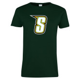 Ladies Dark Green T Shirt-S