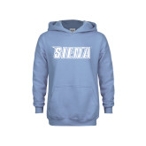 Youth Light Blue Fleece Hoodie-Siena