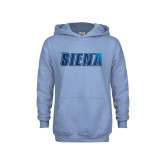 Youth Light Blue Fleece Hoodie-Siena Foil
