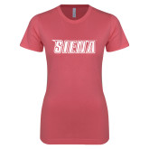 Next Level Ladies SoftStyle Junior Fitted Pink Tee-Siena
