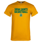 Gold T Shirt-Siena Saints Basketball