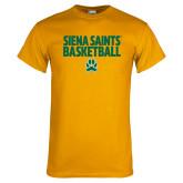 Gold T Shirt-Siena Saints Basketball