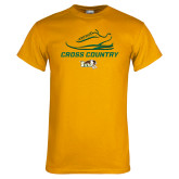 Gold T Shirt-Cross Country Shoe Design