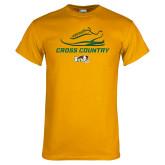 Gold T Shirt-Cross Country Shoe Design
