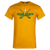 Gold T Shirt-Field Hockey Crossed Sticks