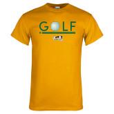 Gold T Shirt-Golf Ball Design