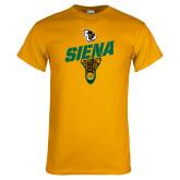 Gold T Shirt-Lacrosse Stick Design