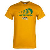 Gold T Shirt-Modern Lacrosse Design