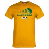 Gold T Shirt-Modern Lacrosse Design