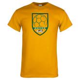 Gold T Shirt-Soccer Shield Design