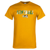 Gold T Shirt-Distressed Softball