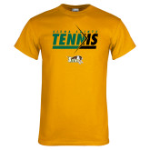 Gold T Shirt-Tennis Abstract Net