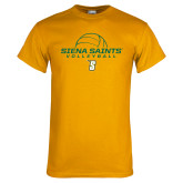 Gold T Shirt-Volleyball Ball Design