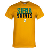 Gold T Shirt-Siena Saints Stacked