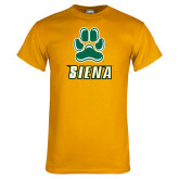 Gold T Shirt-Siena w/Paw