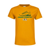 Youth Gold T Shirt-Cross Country Shoe Design