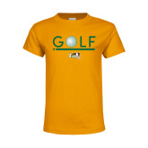 Youth Gold T Shirt-Golf Ball Design