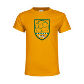 Youth Gold T Shirt-Soccer Shield Design