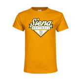 Youth Gold T Shirt-Softball Plate Design
