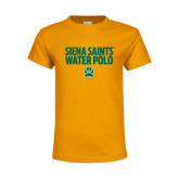 Youth Gold T Shirt-Water Polo Stacked