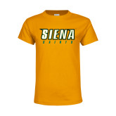 Youth Gold T Shirt-Siena Saints