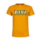Youth Gold T Shirt-Cheerleading