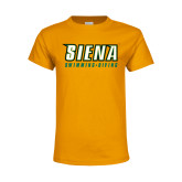 Youth Gold T Shirt-Swimming-Diving
