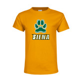 Youth Gold T Shirt-Siena w/Paw
