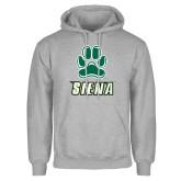 Grey Fleece Hoodie-Siena w/Paw
