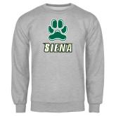 Grey Fleece Crew-Siena w/Paw