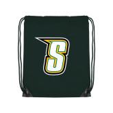 Dark Green Drawstring Backpack-S