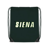 Dark Green Drawstring Backpack-Siena