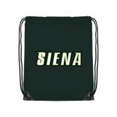 Dark Green Drawstring Backpack-Siena