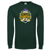 Dark Green Long Sleeve T Shirt-2016 MAAC Mens Golf Champions