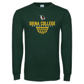 Dark Green Long Sleeve T Shirt-Basketball Sharp Net