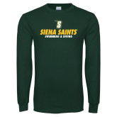 Dark Green Long Sleeve T Shirt-Swimming and Diving Design