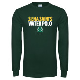 Dark Green Long Sleeve T Shirt-Water Polo Stacked