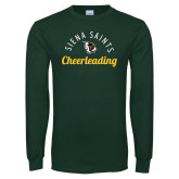 Dark Green Long Sleeve T Shirt-Cheerleading Script Design