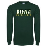 Dark Green Long Sleeve T Shirt-Water Polo